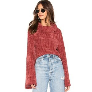 NWT MINKPINK Whole Hearted Cropped Sweater Masala